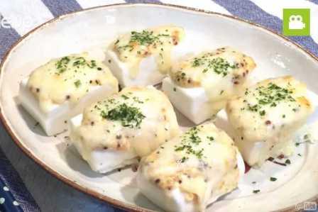 ふわふわの食感で絶品!はんぺんのマヨマスタード焼きの作り方・レシピ