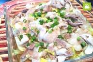電子レンジで簡単!白菜と豚バラ肉のしゃぶしゃぶの作り方・レシピ