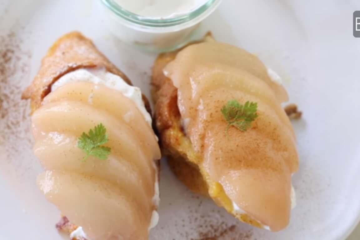 甘党の方にぜひおすすめ!桃のフレンチトーストの作り方・レシピ