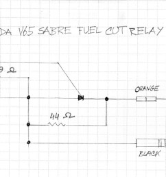 this is a schematic of the fuel pump relay for a v65 honda pete karasz [ 1500 x 714 Pixel ]