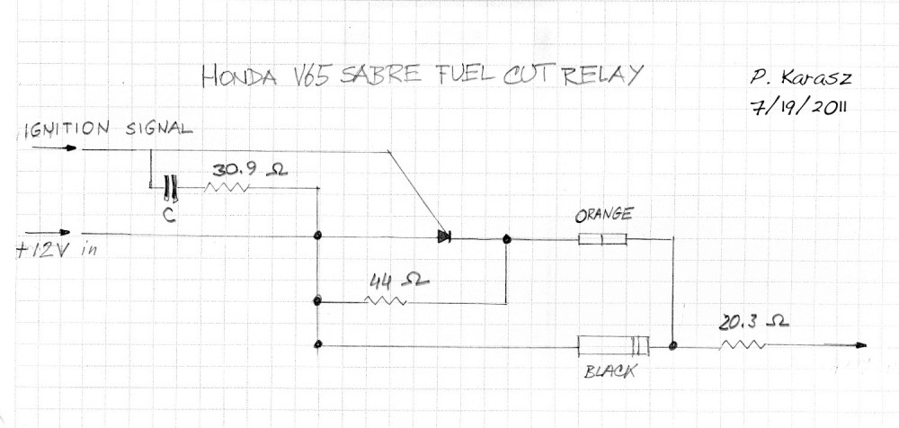 medium resolution of this is a schematic of the fuel pump relay for a v65 honda pete karasz
