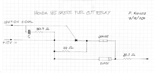 small resolution of this is a schematic of the fuel pump relay for a v65 honda pete karasz
