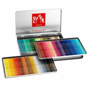 Are Caran d'ache supracolor soft, the best watercolour pencils sets.