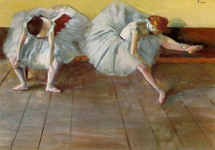 Дега две балетные танцовщицы музей Шелбурн