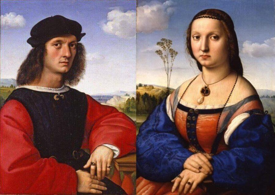 Рафаэль. Портреты Аньоло Дони и Маддалены Строцци. 1506 г. Палаццо Питти, Флоренция, Италия
