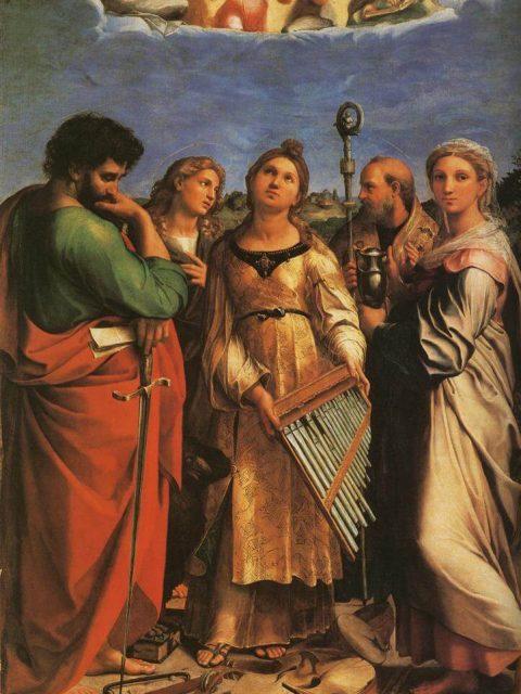 Рафаэль святая Цецилия