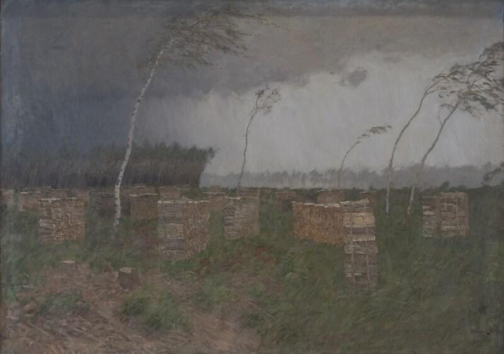 Левитан буря дождь