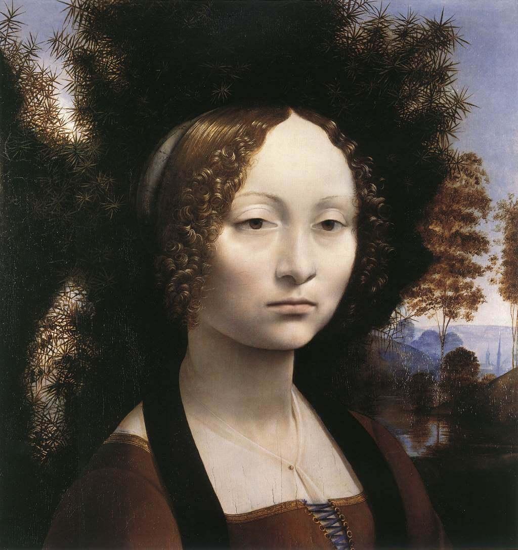 Леонардо да Винчи портрет Джиневры Бенчи