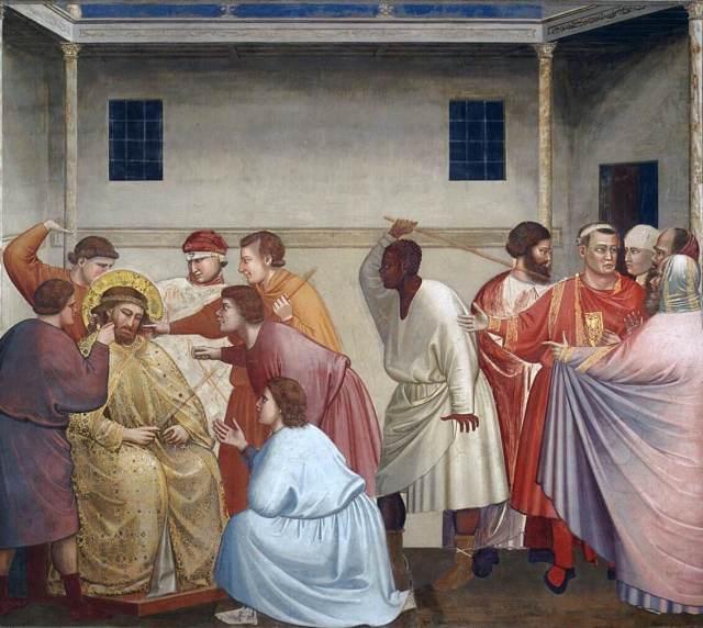 Джотто Бичевание Христа