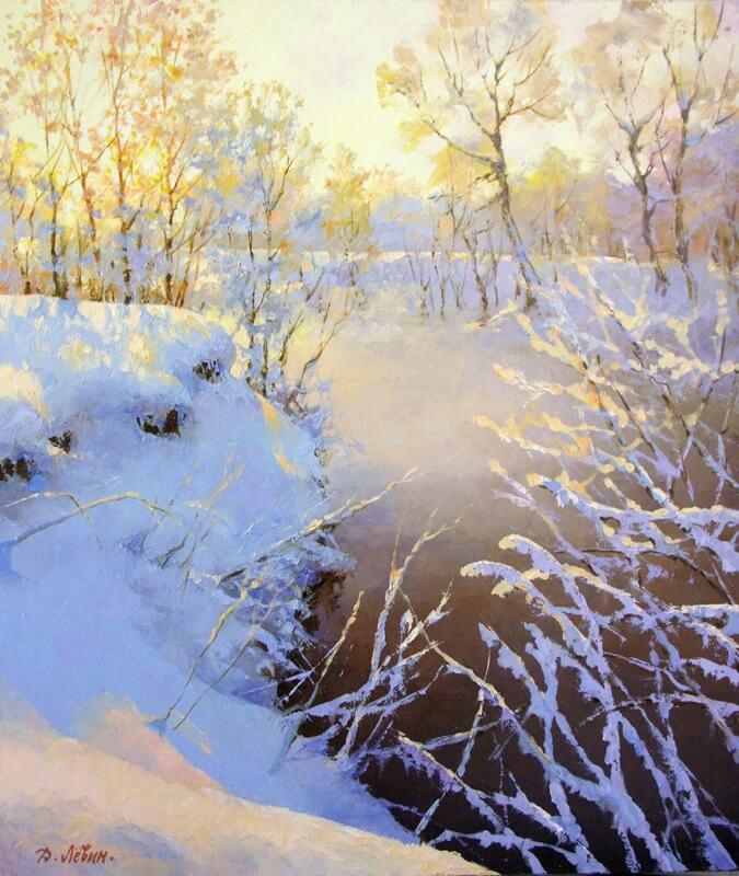 Дмитрий Левин На зимней речке Пехорка