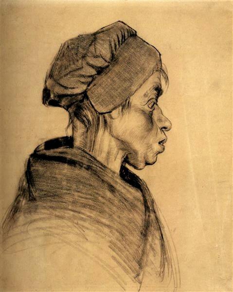 Ван Гог голова женщины 1885 г