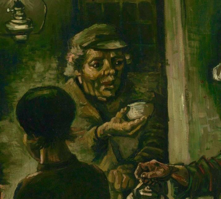 Ван Гог едоки картофеля фрагмент