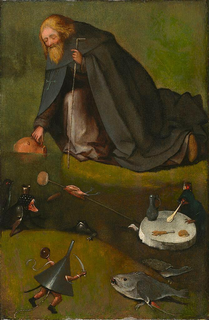 Босх Искушение святого Антония музей Нельсон-аткинс
