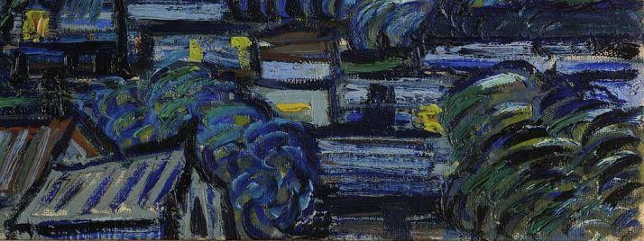 Ван Гог звездная ночь детали