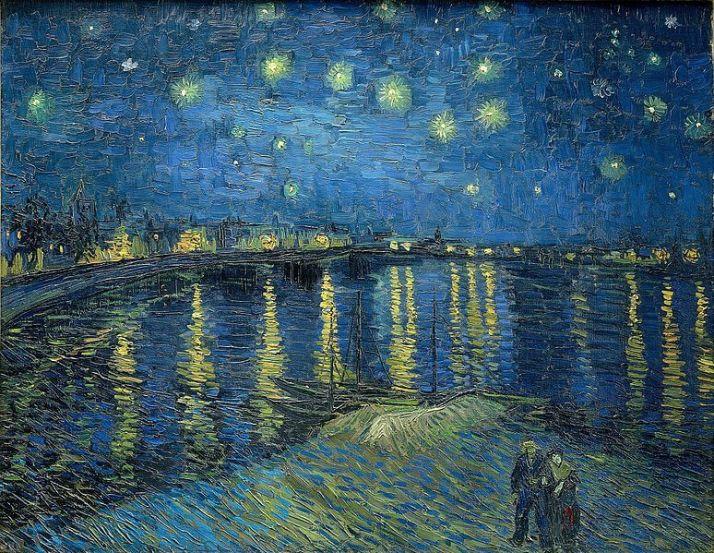 Ван Гог звездная ночь над Роной