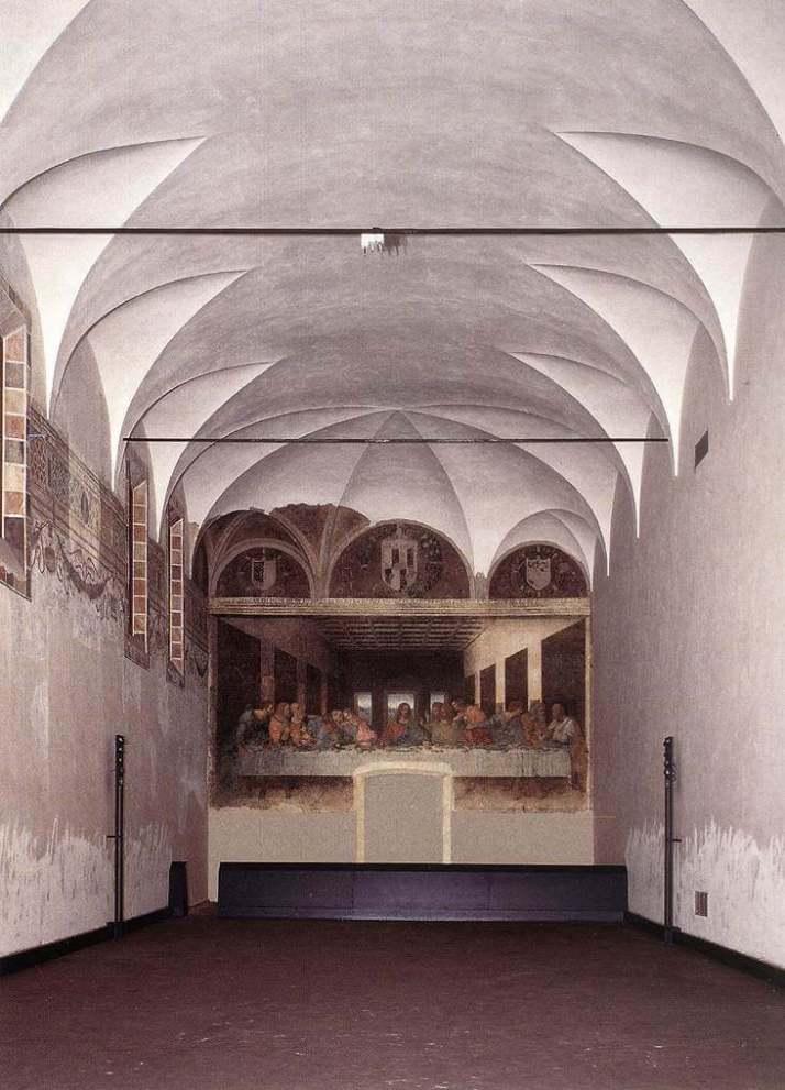 Леонардо да Винчи тайная вечеря трапезная
