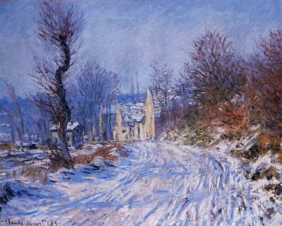 Моне дорога в Живерни зимой