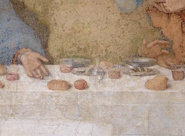 Леонардо да винчи тайная вечеря тени