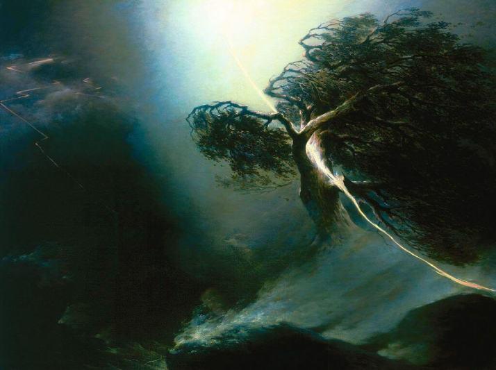 Воробьев дуб раздроблённый молнией