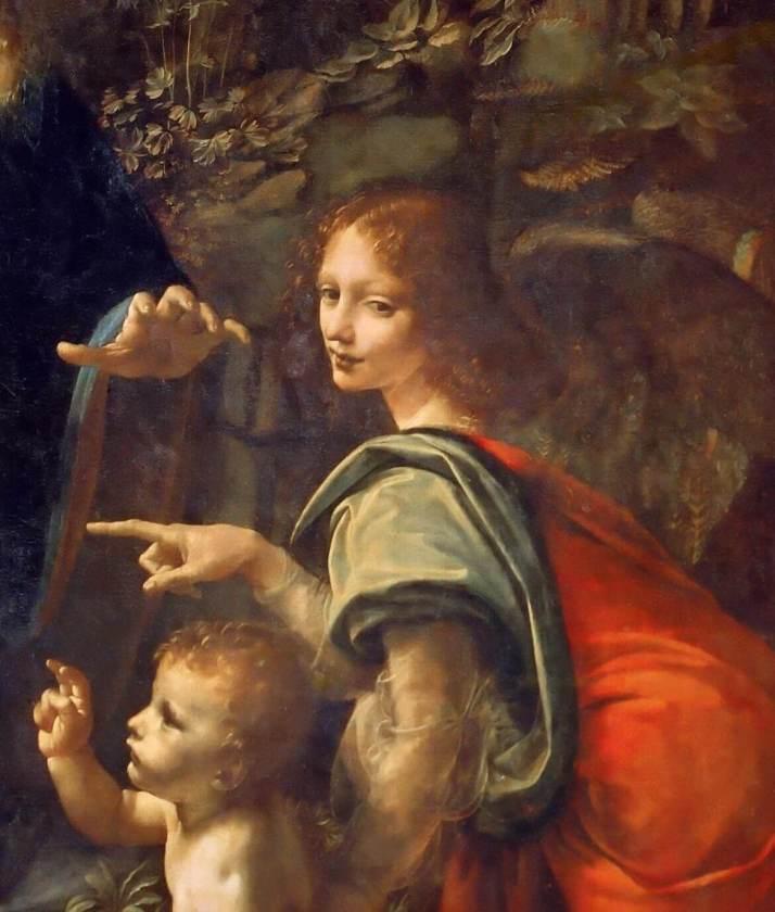 Леонардо Мадонна в скалах Ангел