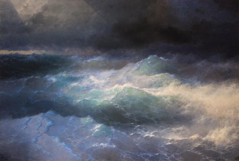 Айвазовский среди волн