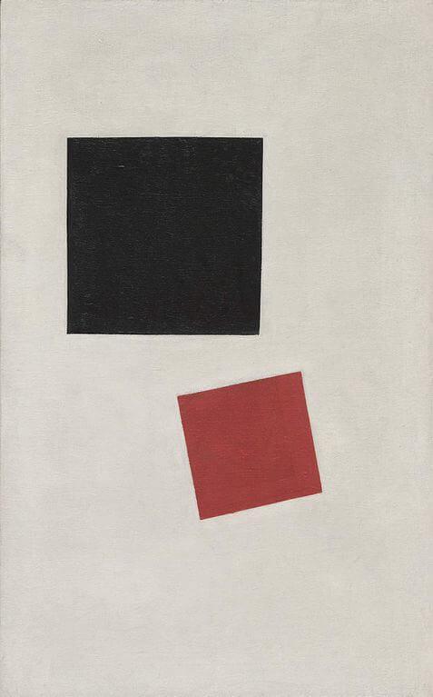 Малевич чёрный и красный квадраты