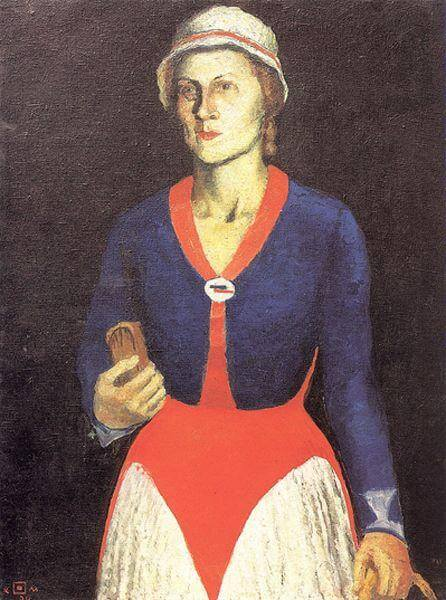 Малевич портрет жены художника