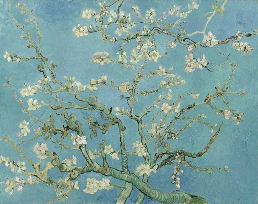 Ван Гог цветущие ветки миндаля