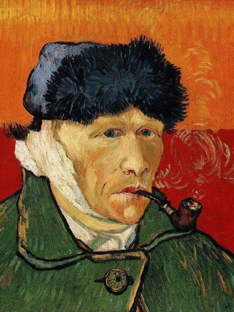 Ван Гог автопортрет с отрезанным ухом и трубкой