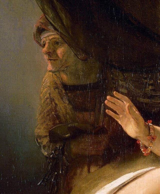 "Рембрандт автопортрет на картине ""Даная"""