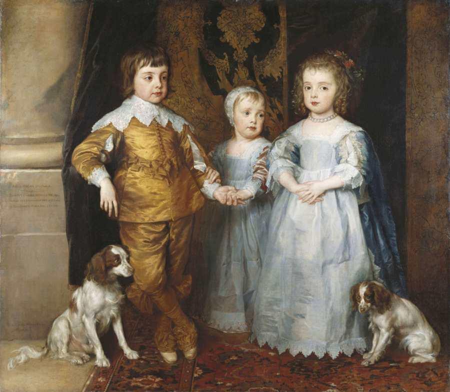 Ван Дейк старшие дети короля Карла 1
