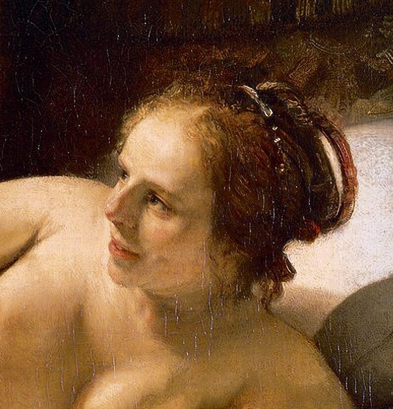 "Рембрандт. Фрагмент картины ""Даная"""