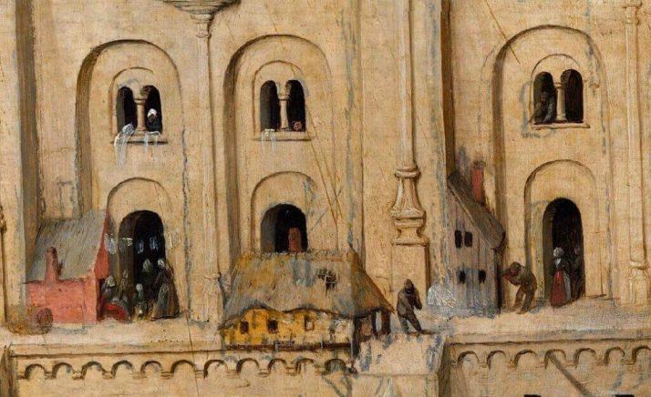 Брейгель Вавилонская башня фрагмент