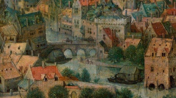 Брейгель мост через реку