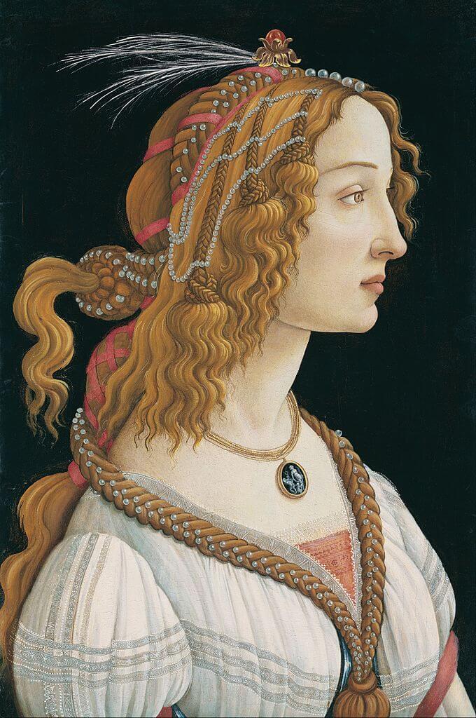 Боттичелли портрет молодой женщины