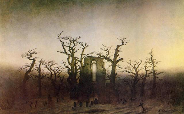 Каспар Фридрих аббатство в дубовом лесу
