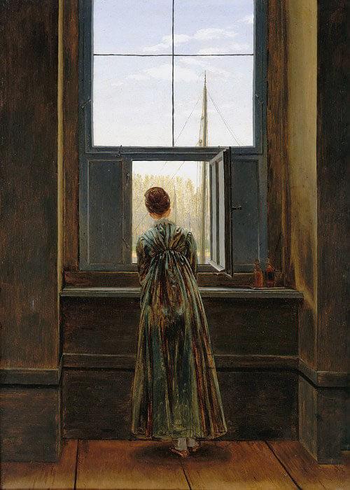 Каспар Фридрих женщина у окна