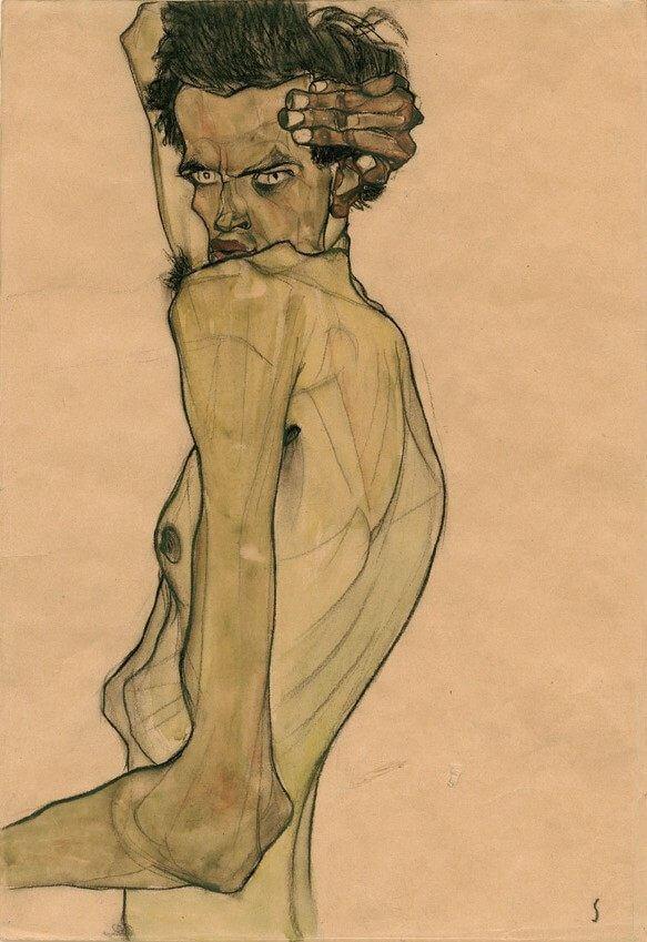 Шиле автопортрет 1910