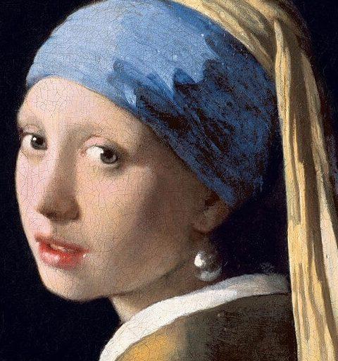 Вермеер девушка с жемчужной серёжкой фрагмент