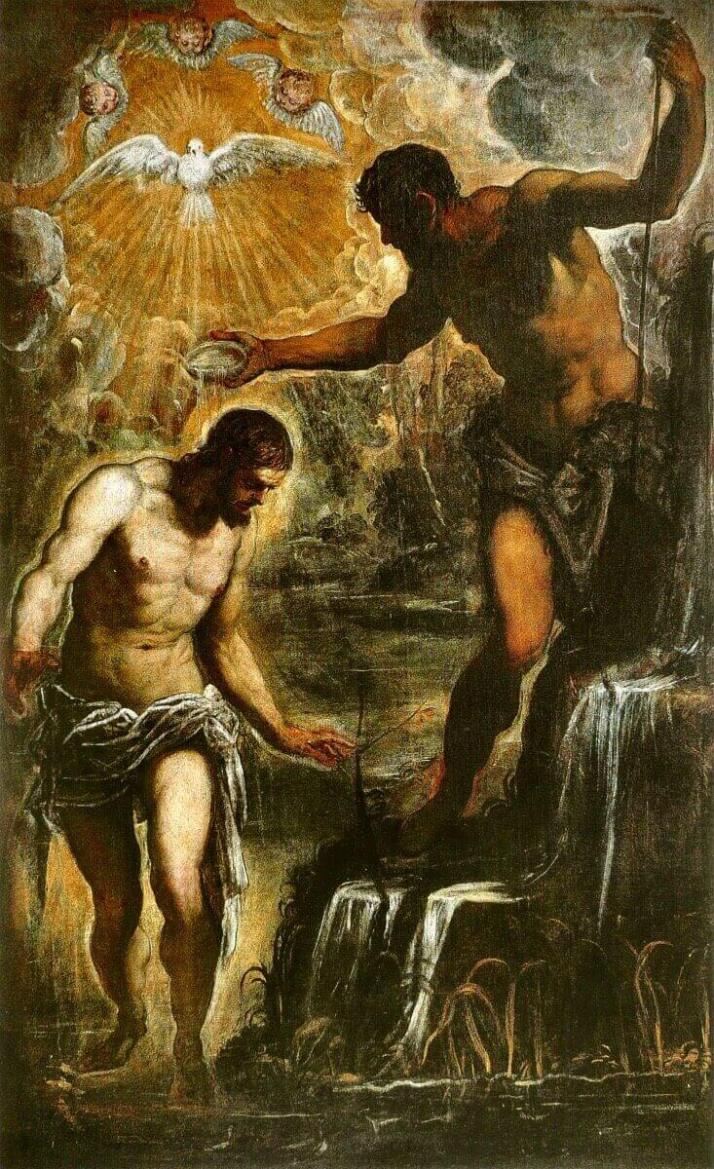Тинторетто крещение Христа