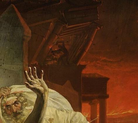 Последний день Помпеи разрушающийся храм