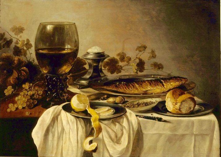Питер клас натюрморт с рыбой
