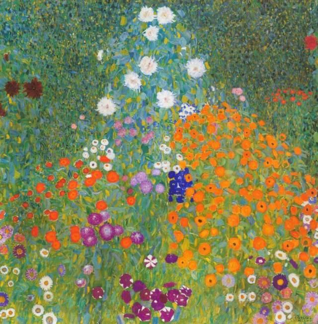 Климт цветущий сад