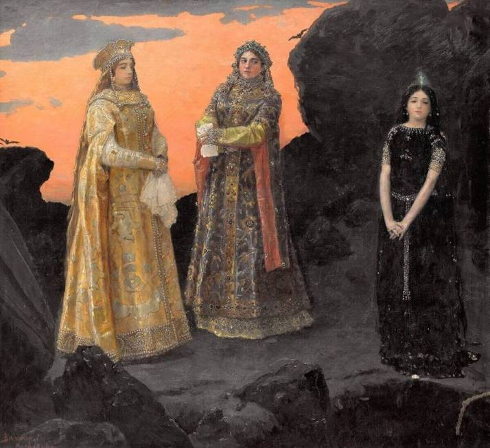 Васнецов три царевны
