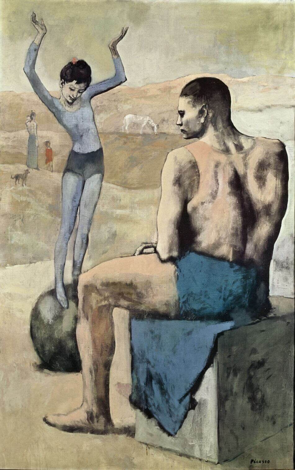 Пикассо девочка на шаре