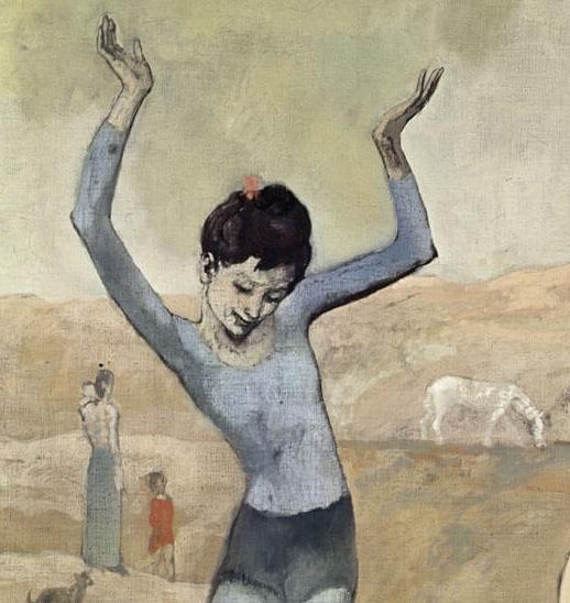 Пикассо девочка на шаре фрагмент