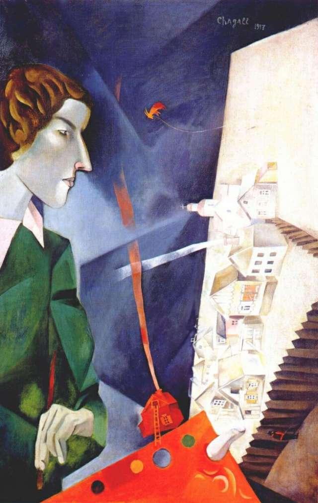 Марк Шагал автопортрет с палитрой