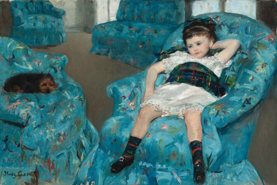 Кассат Девочка в голубом кресле
