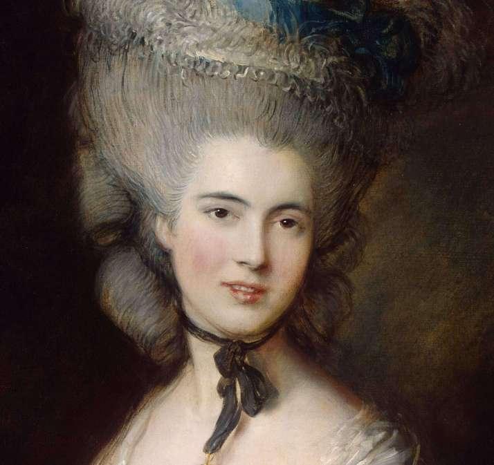 Гейнсборо дама в голубом фрагмент