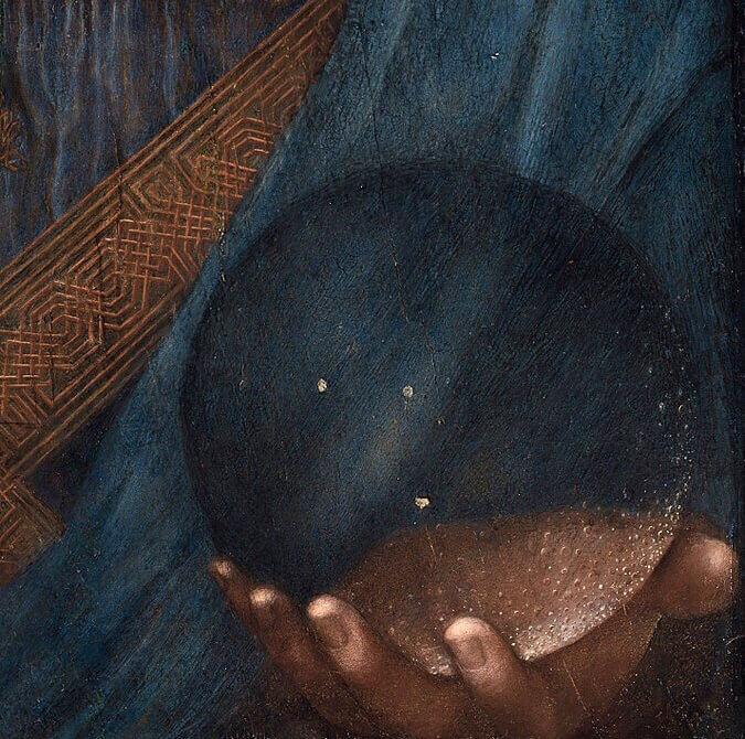 Леонардо спаситель мира деталь